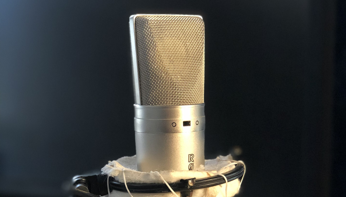 Rode microphone used in the Crawford Media podcast